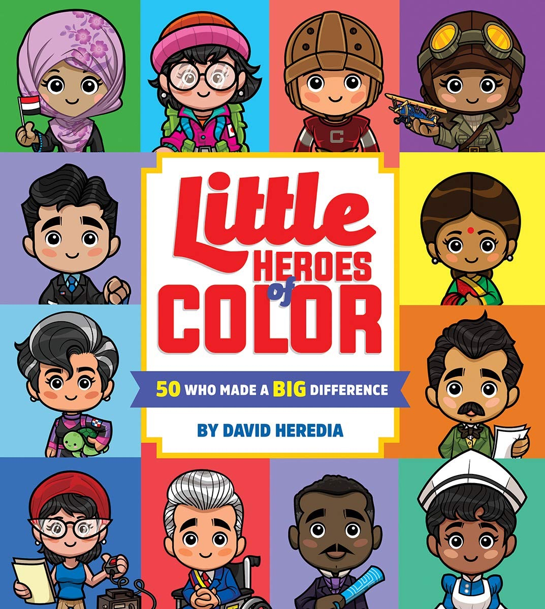 """The book cover of """"Little Heroes of Color,"""" by David Heredia"""