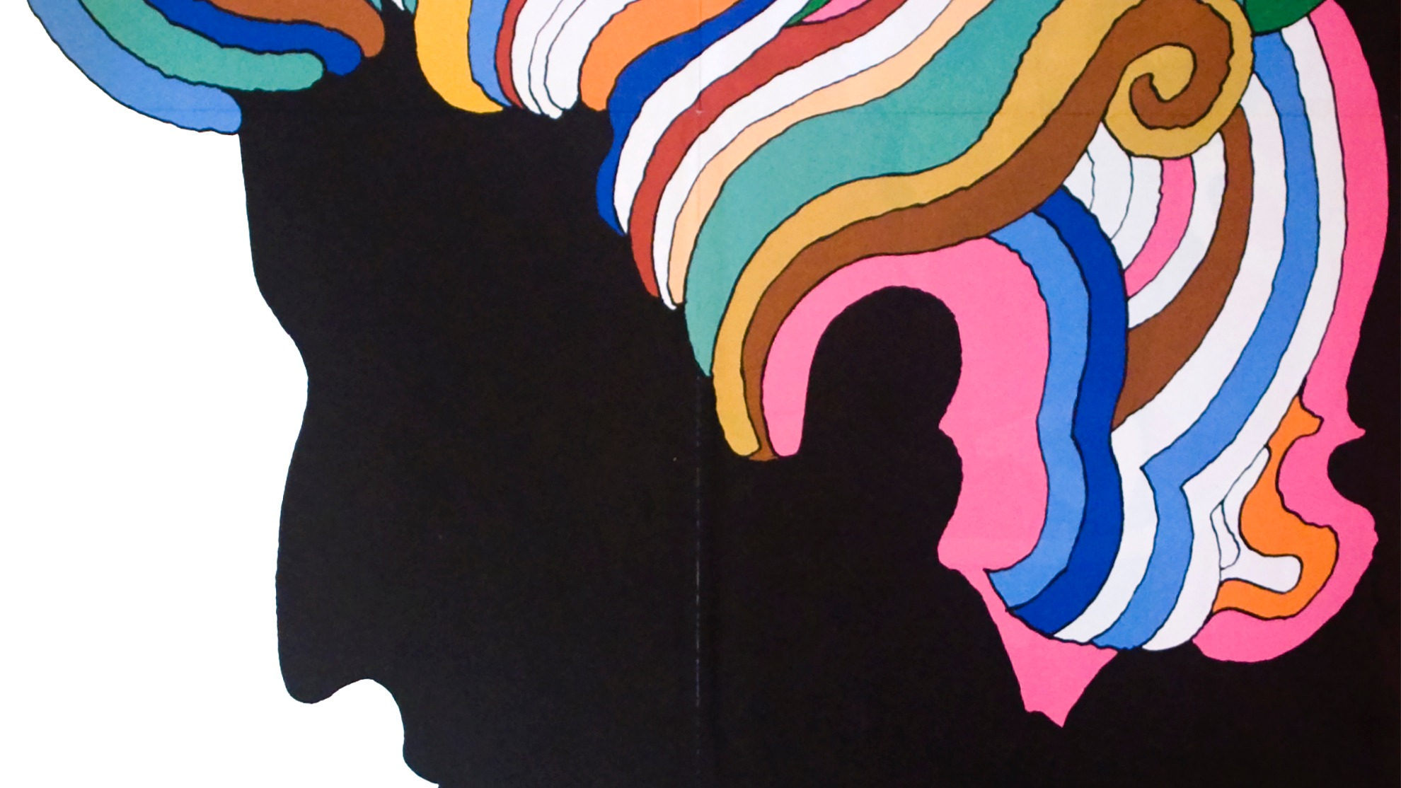 Iconic Bob Dylan poster designed by Milton Glaser.