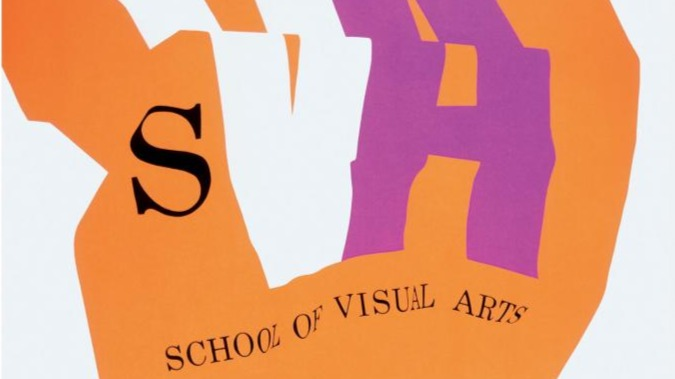 Graphic poster promoting an educational institution.