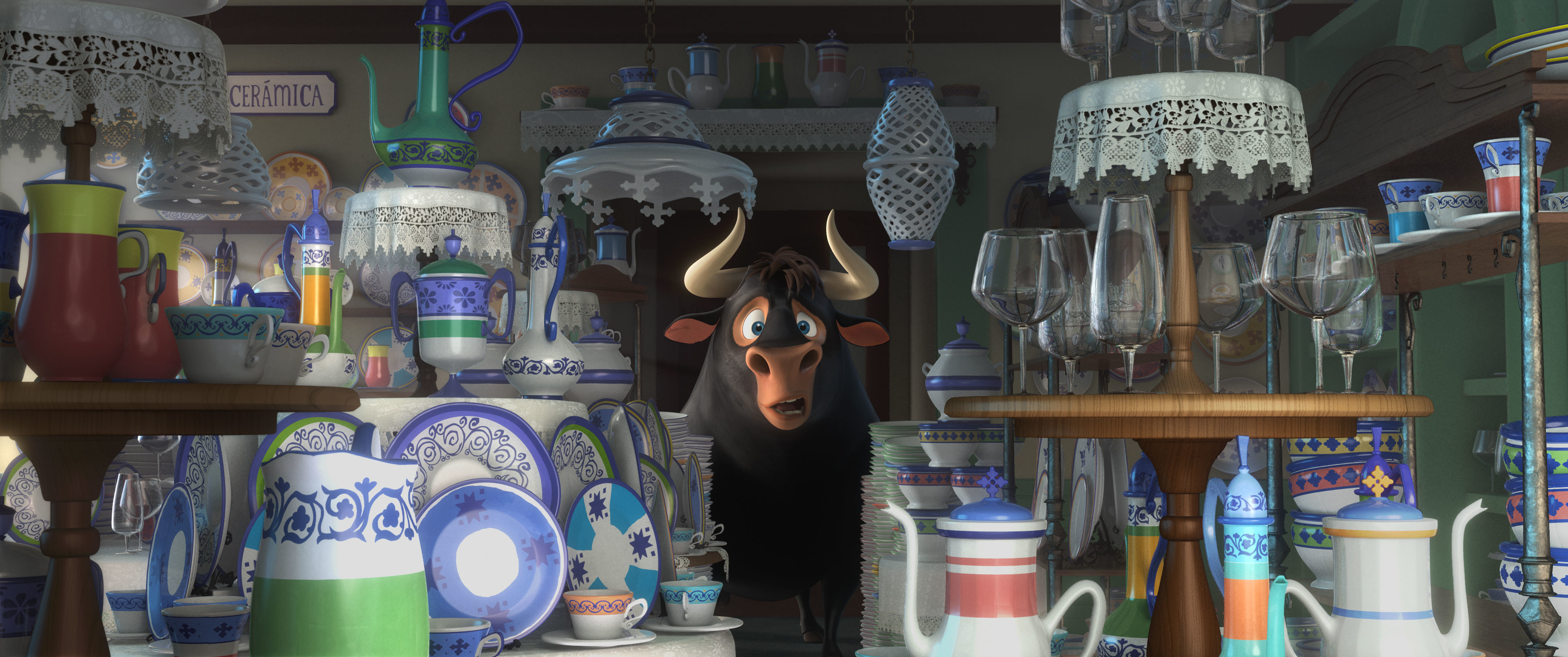 A cartoon of a bull in chinaware shop!