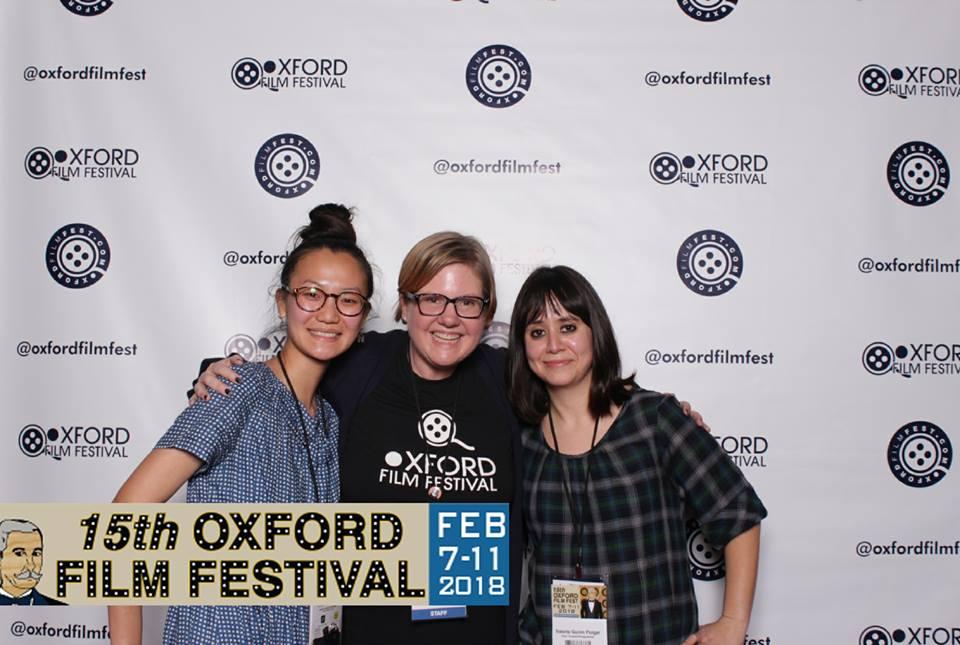 Three women at the 15th Oxford Film Festival.