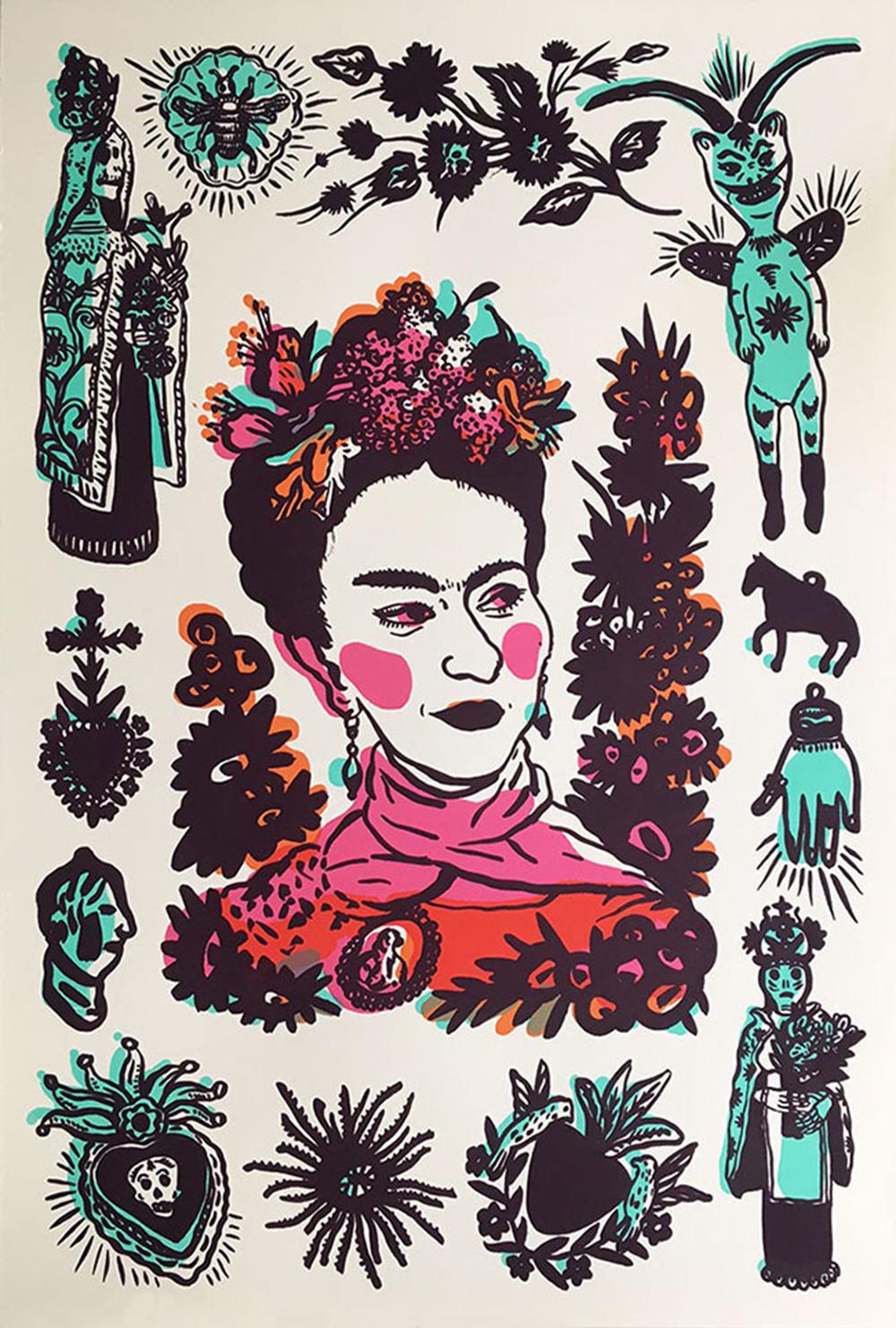 Frida Kahlo drawings.