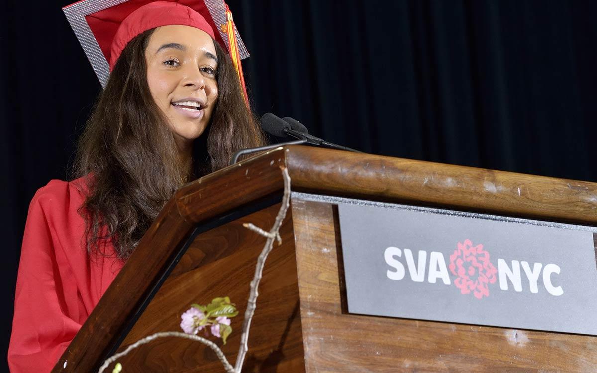 Graduate Giving a Speech