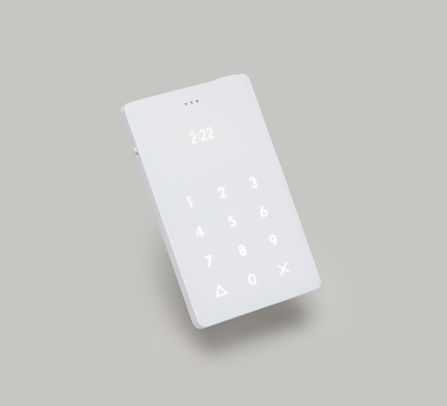 The digital time display on a device
