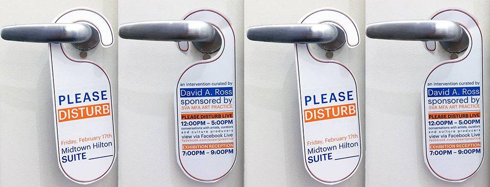 Please disturb door hangers.