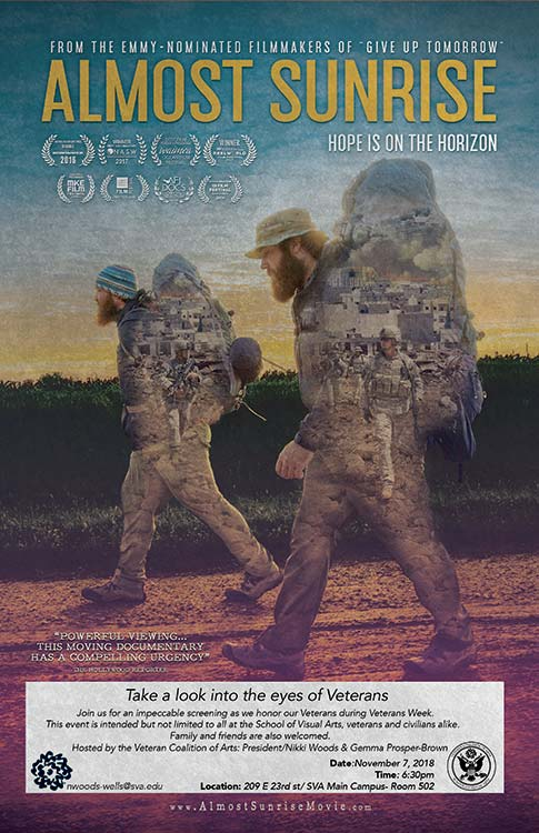 The Poster for <i>Almost Sunrise</i>.