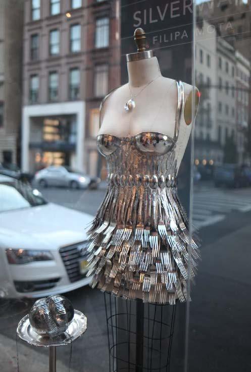 dress made of forks
