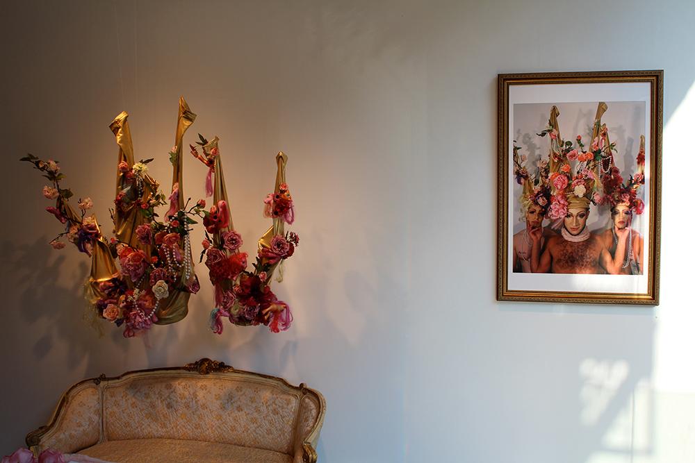 Floral crown installation.