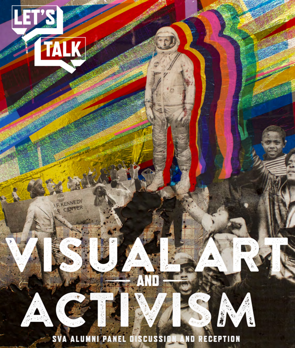 Visual activism popart with an astronaut