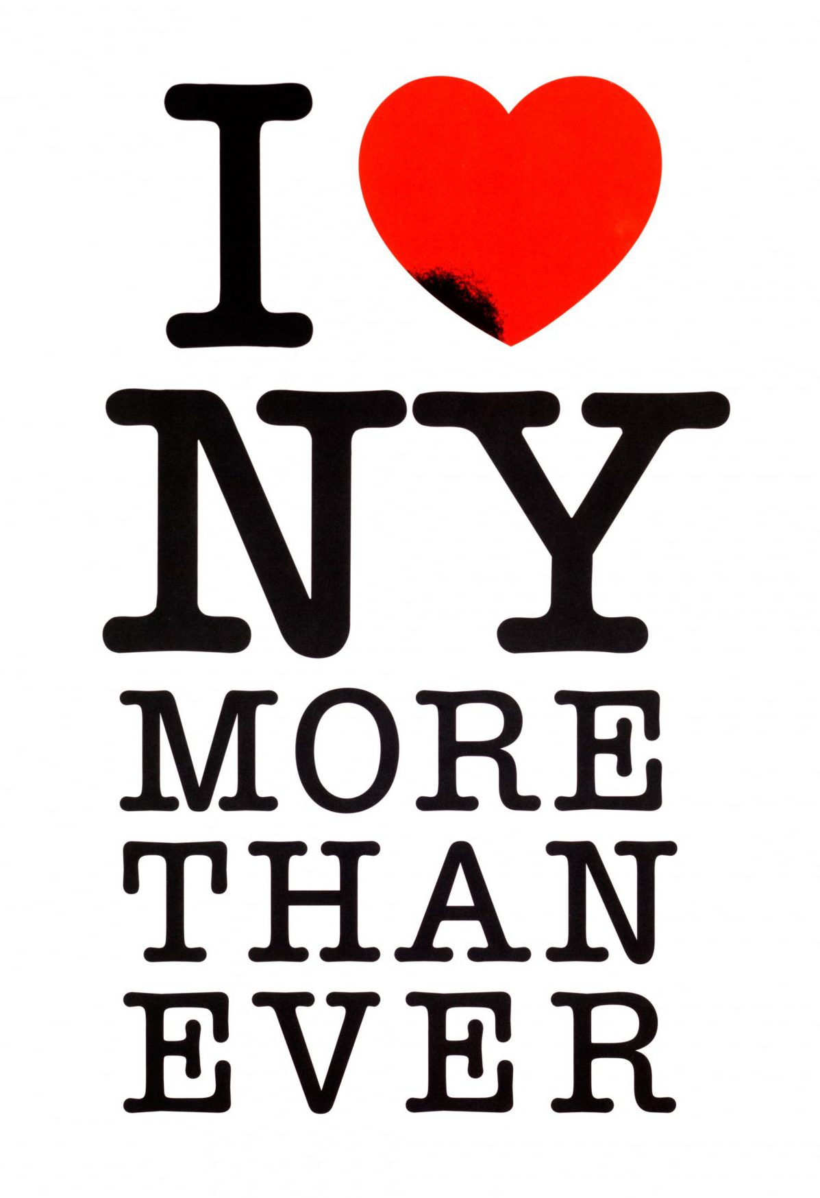 "Milton Glaser's ""I Love New York More Than Ever"" poster, 2001."