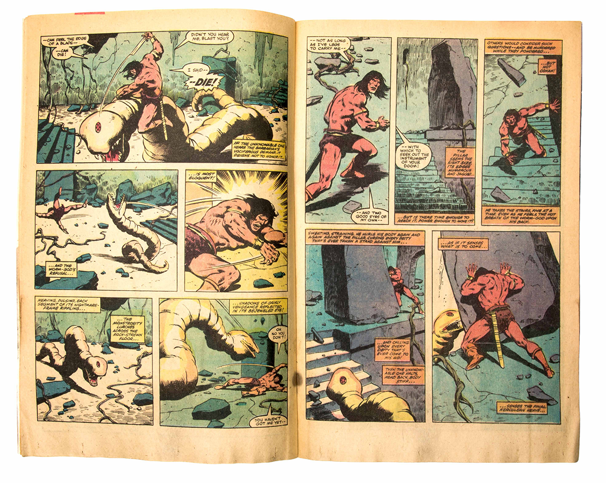 Inside of a <em>Conan The Barbarian</em> comic book. Image courtesy of Marvel Comics.