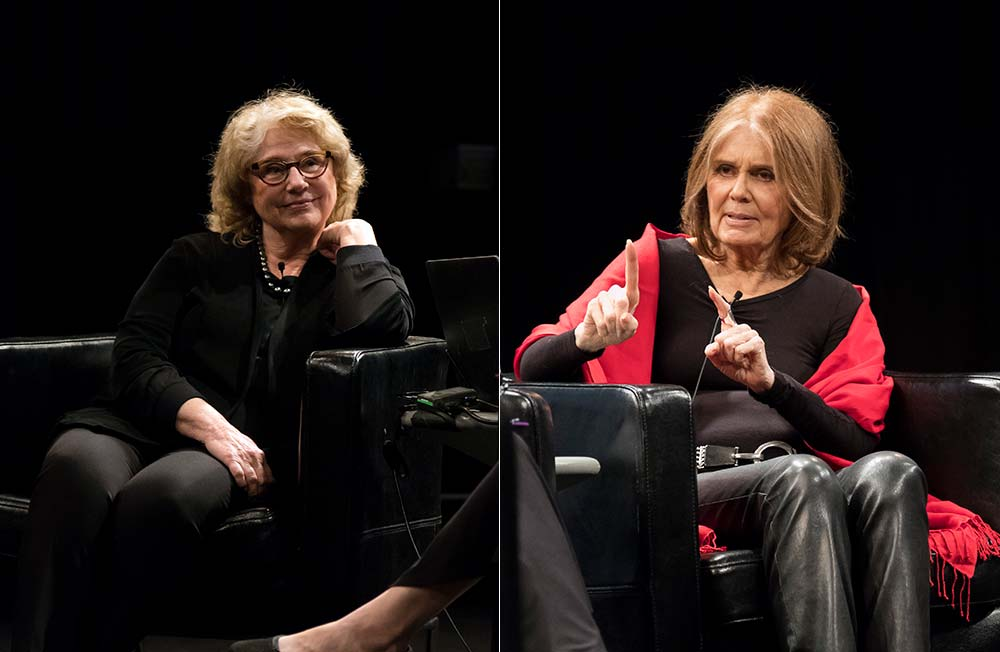 """Barbara Nessim and Gloria Steinem. Photo by Jacqueline Iannacone<span class=""""redactor-invisible-space"""">.</span>"""