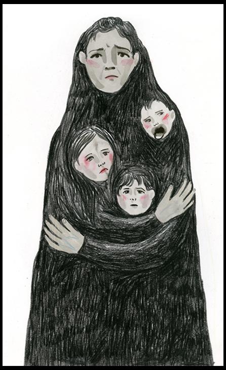 Hye Jin Chung (MFA 2013 Illustration as Visual Essay), Anxious Mother 1