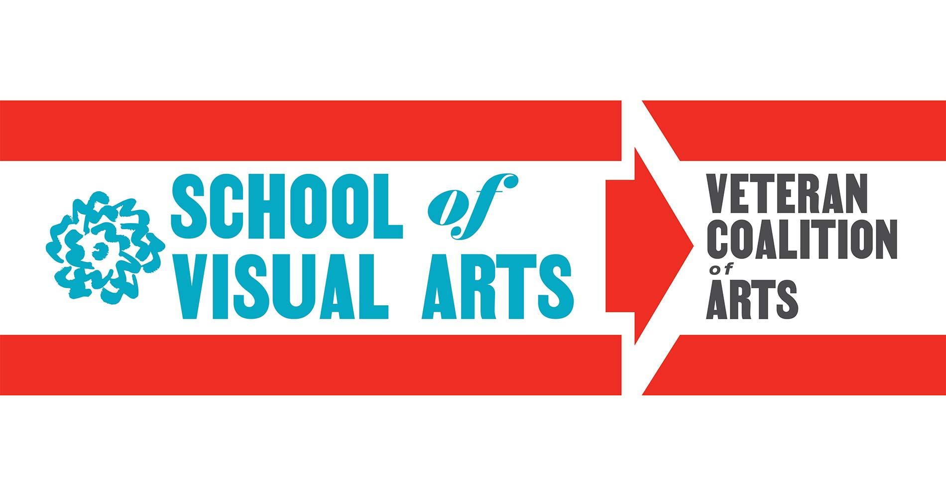SVA's Veteran Coalition of Arts banner designed by the Visual Arts Press.