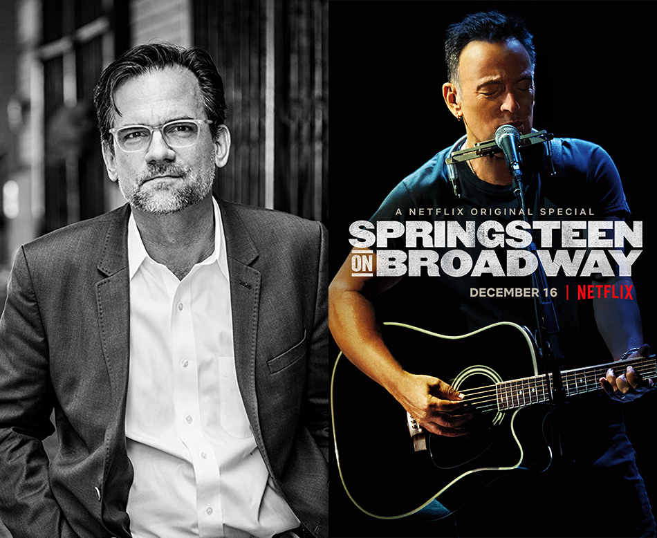 """<p """"="""""""">Left: A portrait of Thom Zimny. Right: The poster for Netflix's<span id=""""selection-marker-1"""" class=""""redactor-selection-marker""""></span> """"Springsteen on Broadway."""""""
