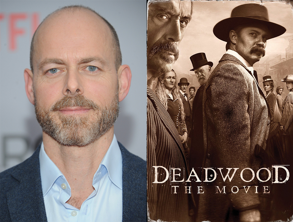 Left: An image of Dan Minahan. Right: The movie poster for Deadwood: The Movie (2019)