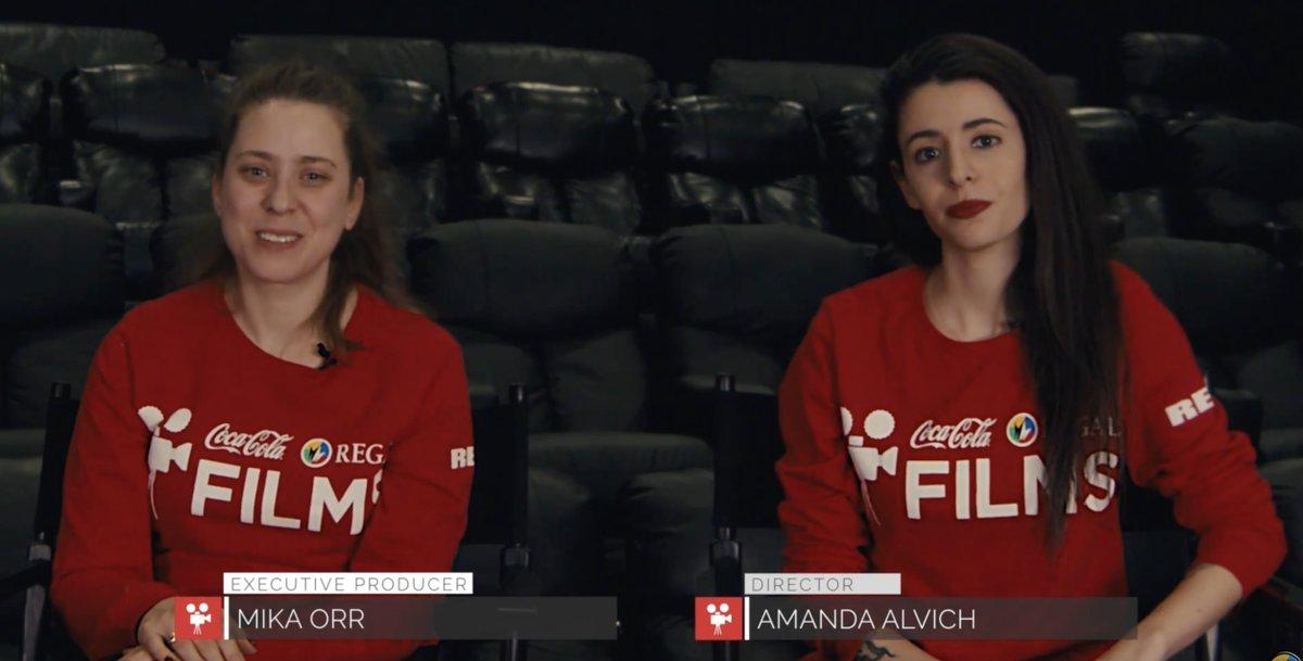 Two women talking on camera.
