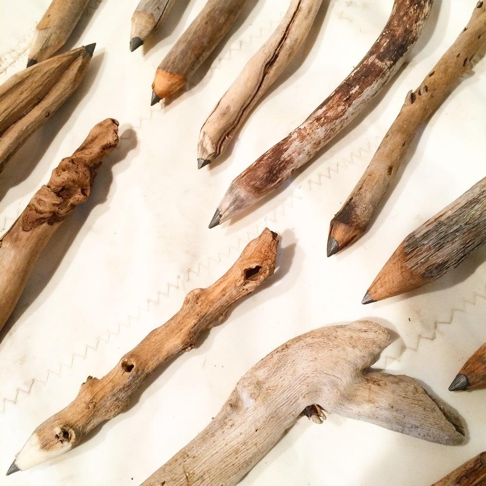 Unique wood writing utensils