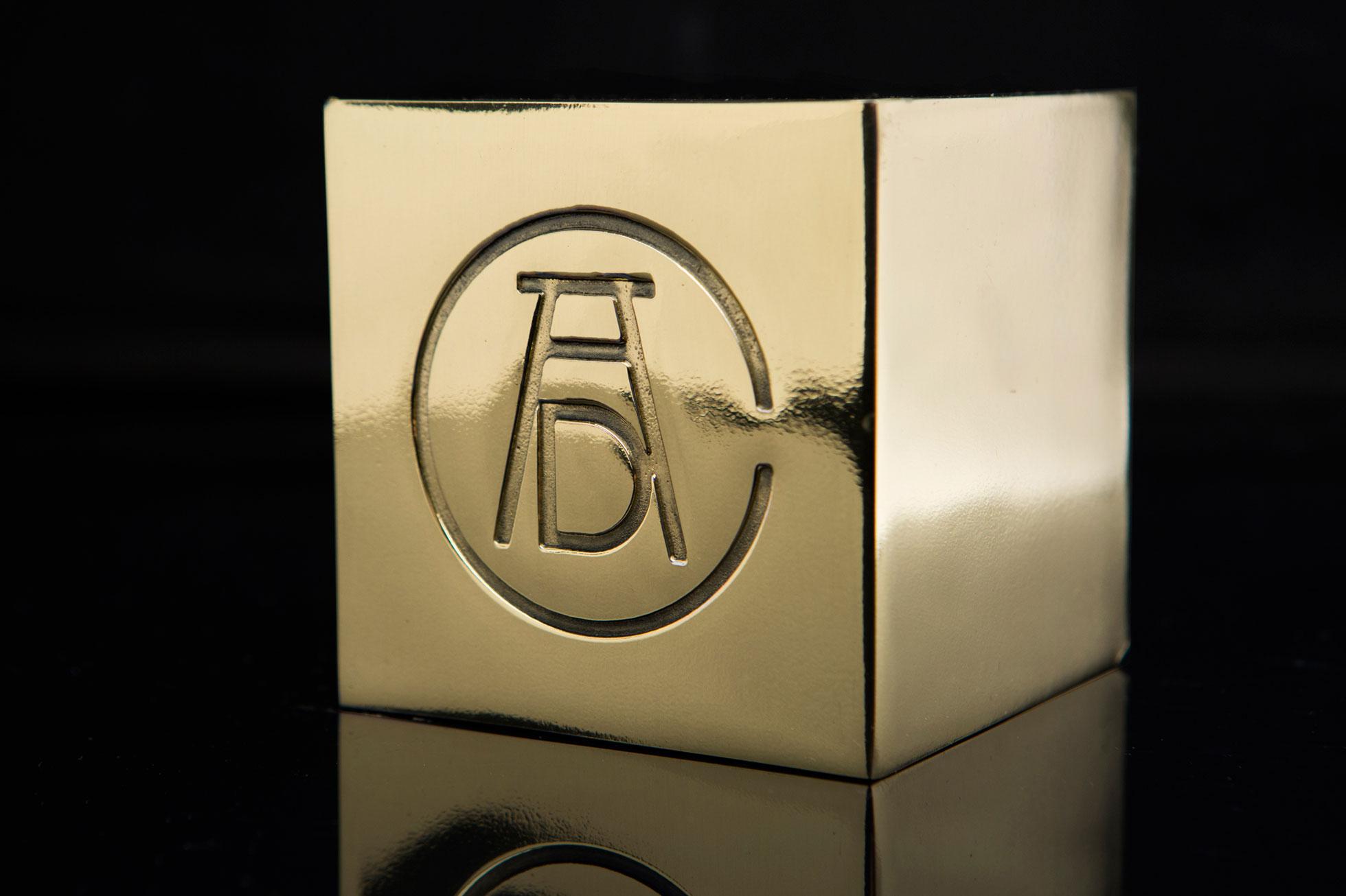 Ancient metallic cube