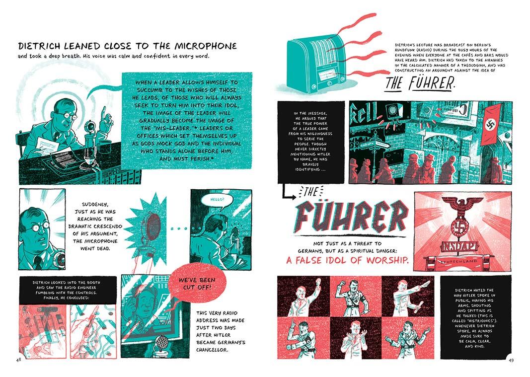 Illustrations from <em>The Faithful Spy</em> by John Hendrix.