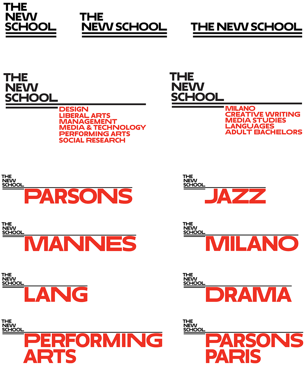 Pentagram Rebrands The New School