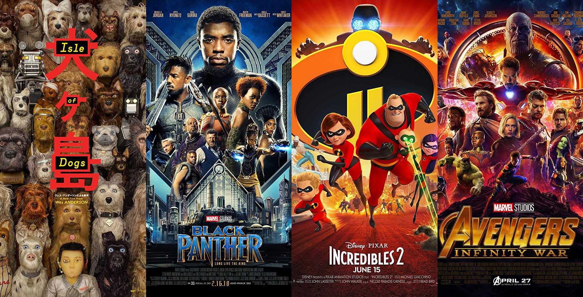 <em>Oscar nominated films: Isle Of Dogs, Black Panther, Incredibles 2, Avengers: Infinity War</em>