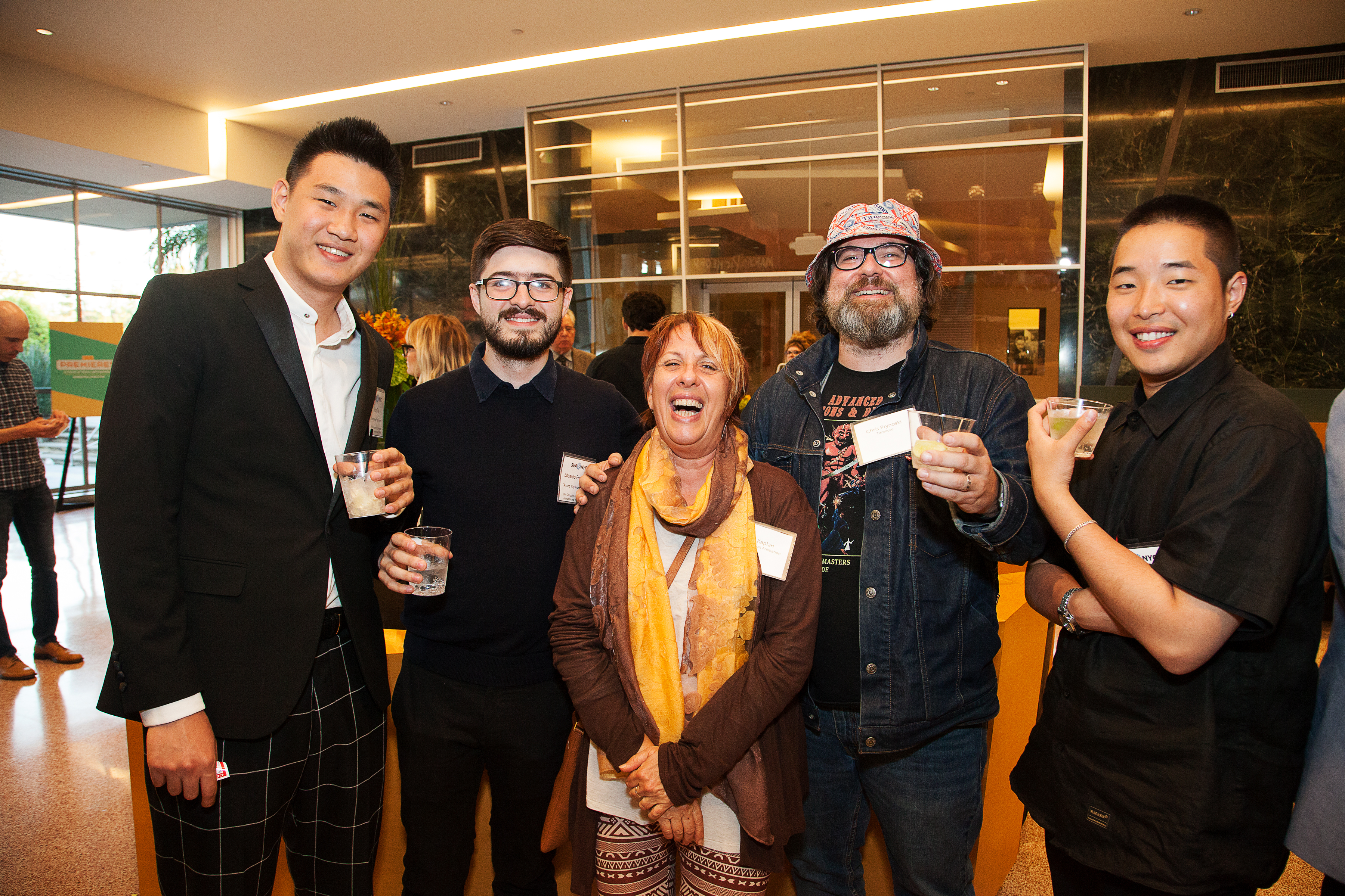 "<p ""="""">Prior to the SVA Premieres screening, guests gathered in the Linwood Dunn Theater's lobby for a networking reception."