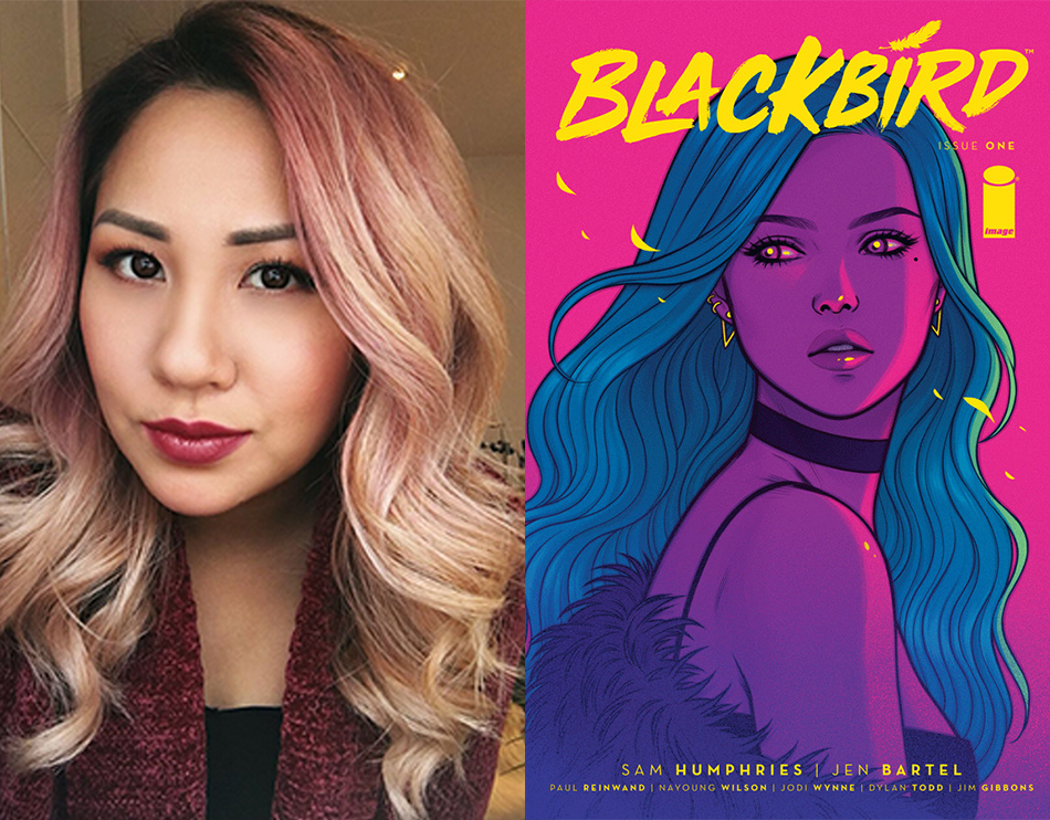 """Left to right: Comic artist Jen Bartel<span class=""""redactor-invisible-space""""> and her fantasy themed comic <em>Blackbird. </em><span class=""""redactor-invisible-space"""">Illustration courtesy of Image Comics.</span></span>"""