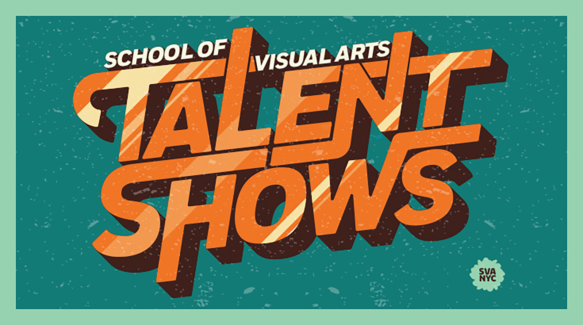 The text-based logo for SVA Talent Shows.
