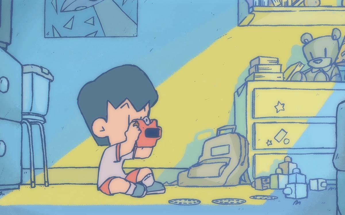 Image from BFA Animation student Andres Padilla's <em>Slides.</em>