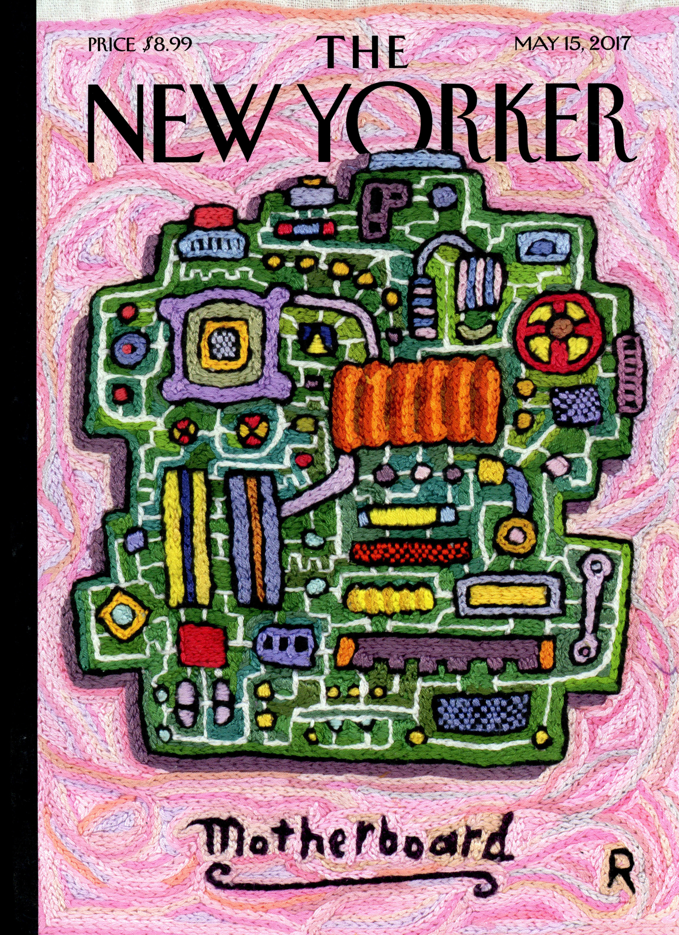 magazine cover form the New Yorker titled Motherboard