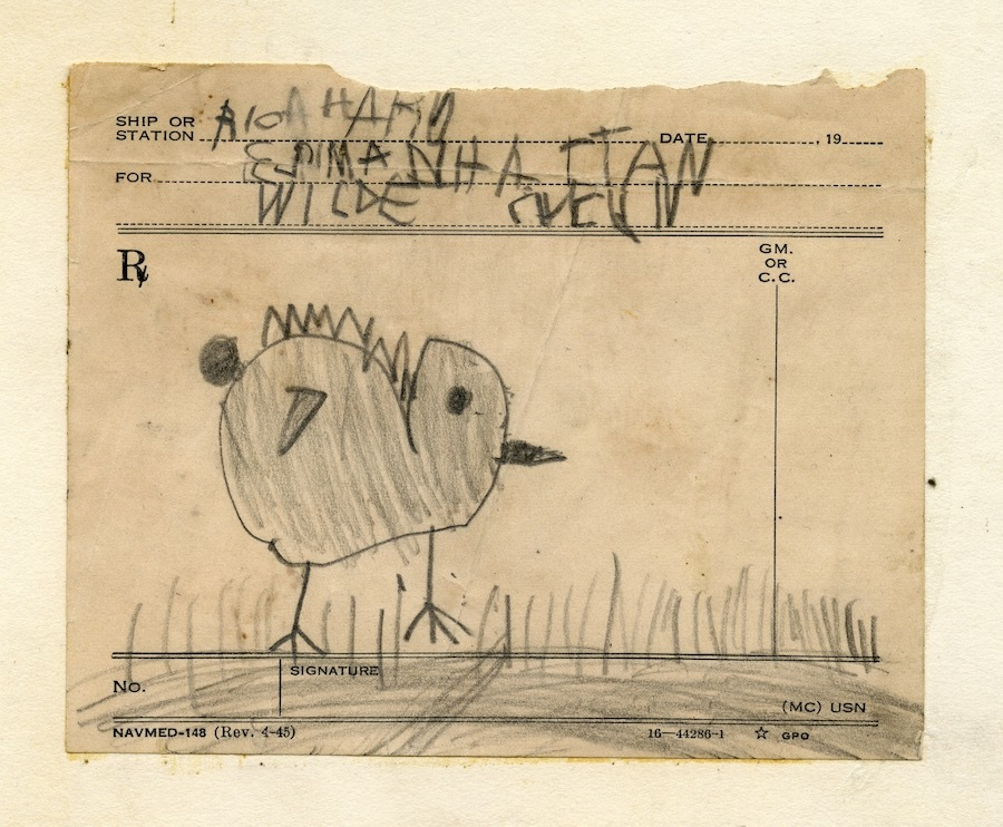One of Wilde's childhood drawings.