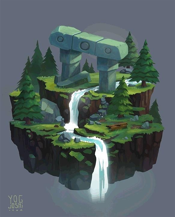 Yog Joshi (BFA 2015 Illustration), Waterfall Animation