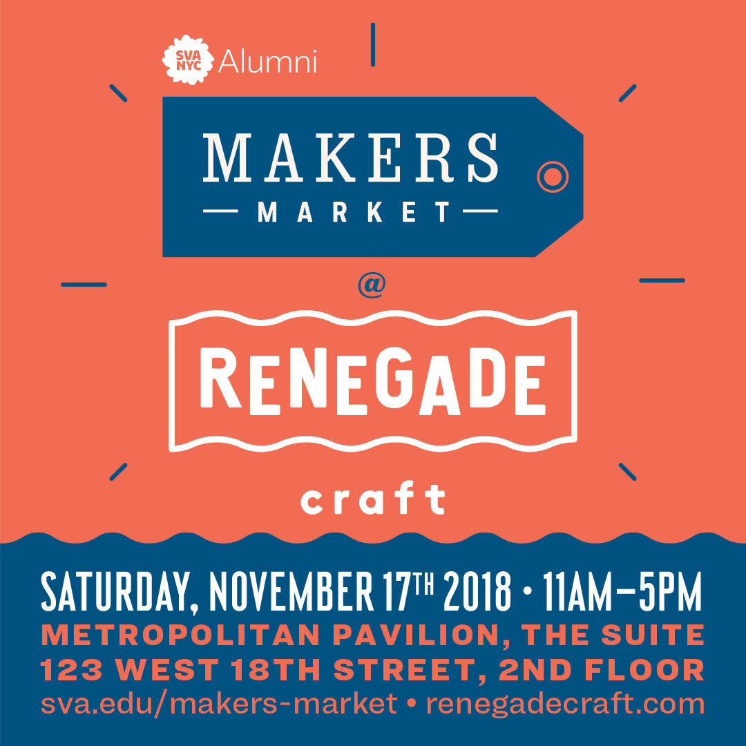An image of SVA's Makers Market poster