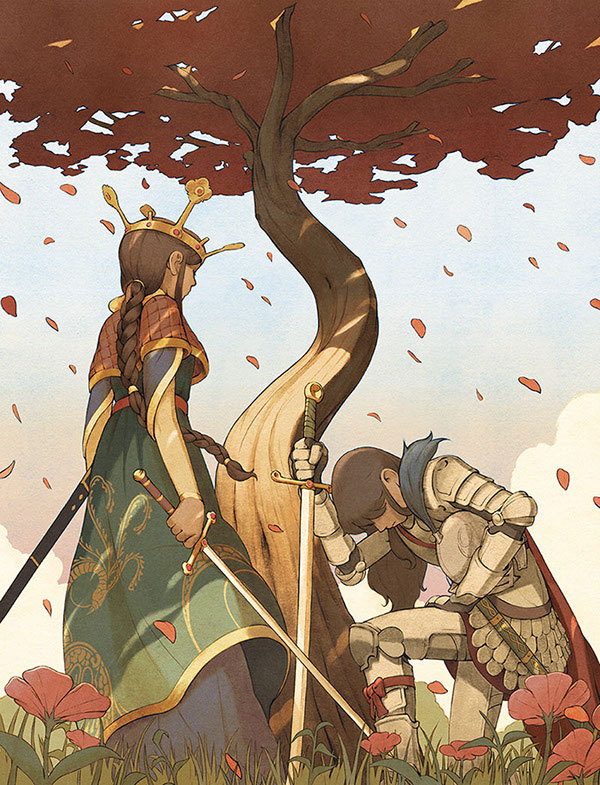 """""""great knight bowing queen"""""""