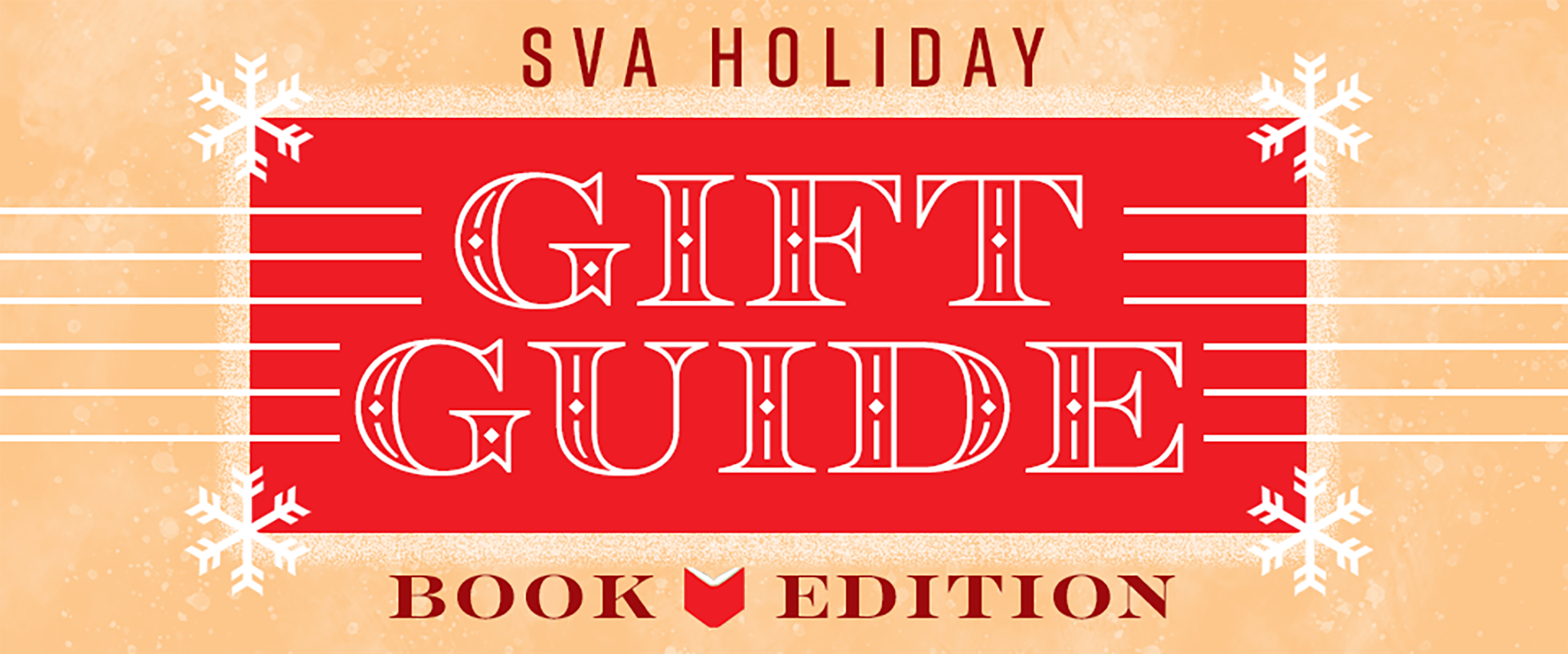 SVA's holiday's gift guide book poster.