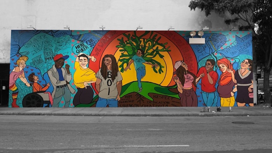 "<span class=""redactor-invisible-space"">An image of a mural painted for the World Mural Project. Image courtesy of nycpride.org.</span>"