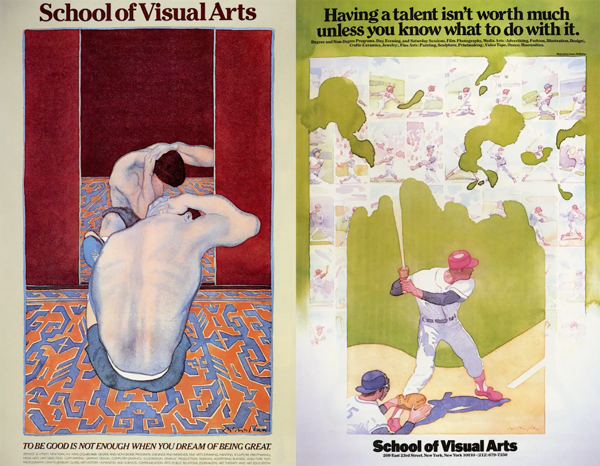 """<span class=""""redactor-invisible-space"""">A collection of School of Visual Arts subway posters by James McMullan.</span>"""