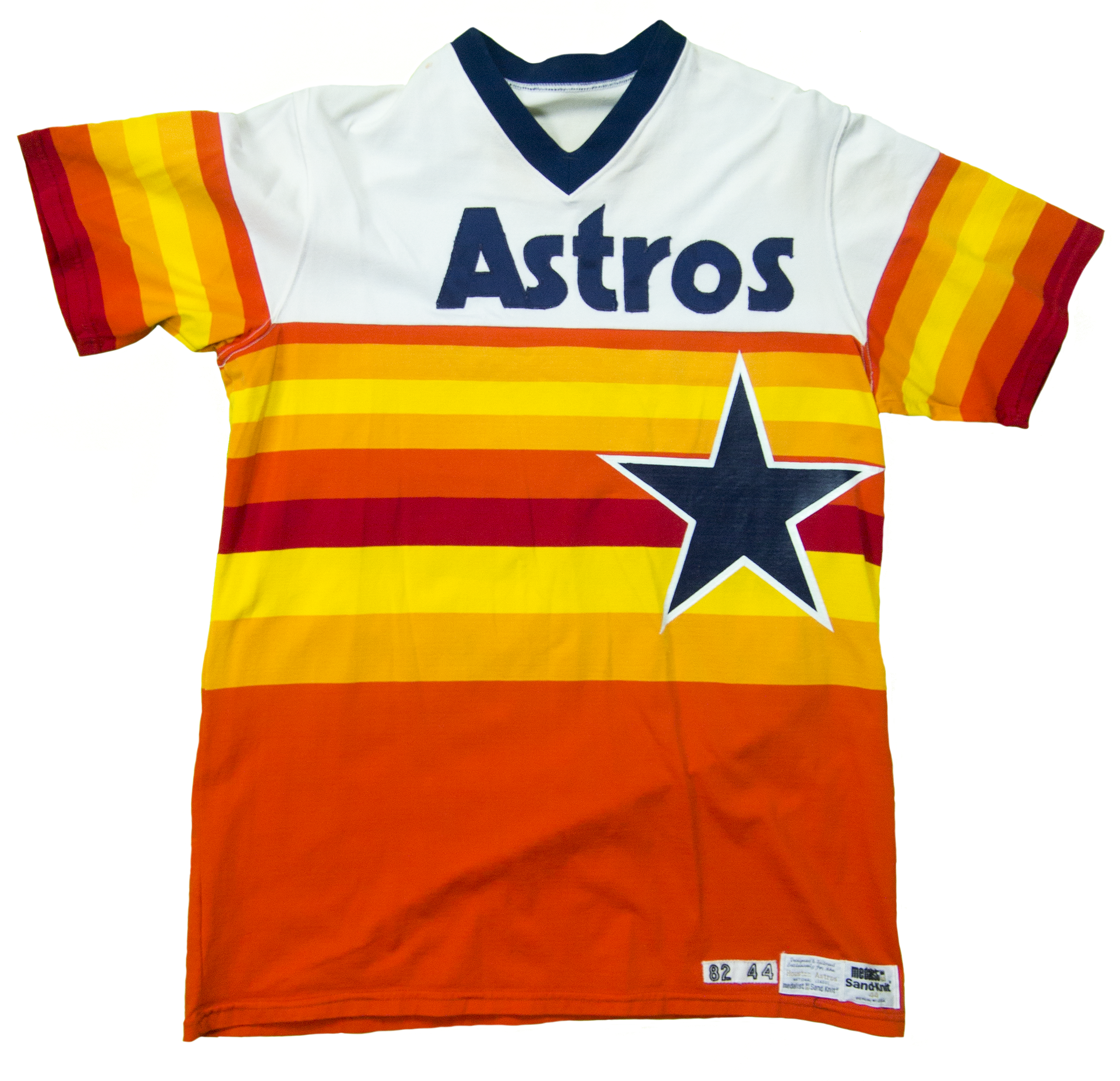 A photo of a 1982 Astros jersey. Image courtesy of Sports Publishing.