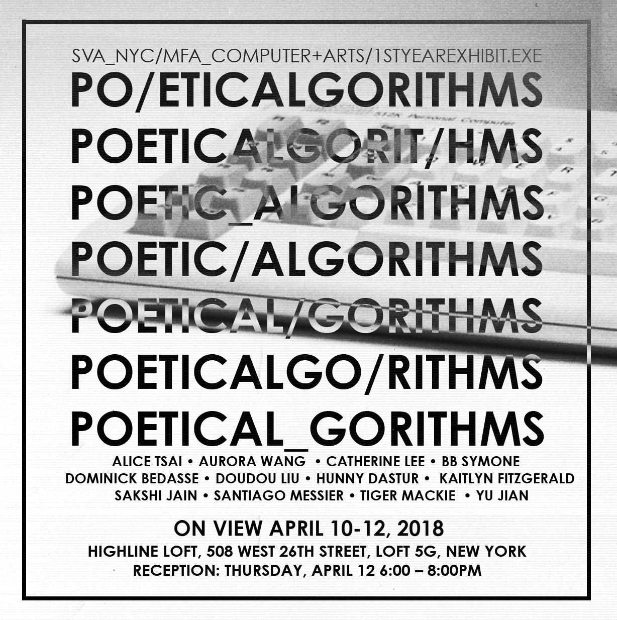 poetic algoithms